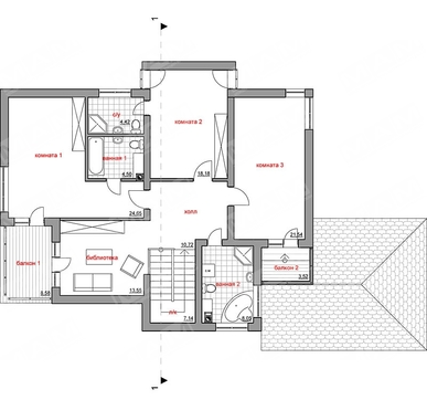 Проект дома хай тек до 300 m² с террасой