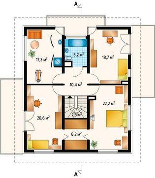 Просторный коттедж с четырьмя спальнями и гаражом