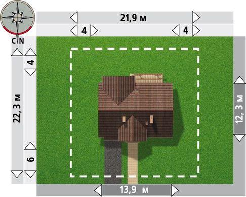 Комфортный двухэтажный дом с четырьмя спальнями и санузлами