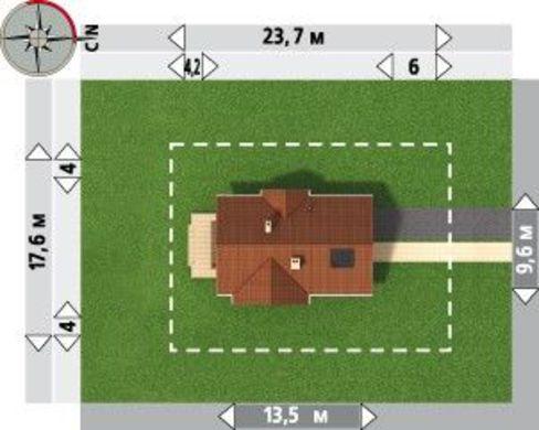 Планировка прекрасного двухэтажного дома площадью 167 кв. м с четырьмя спальнями