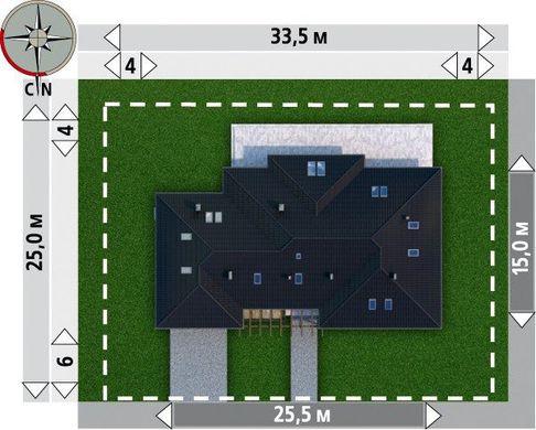Большое загородное поместье с выходом в сад и гаражом для двух автомобилей