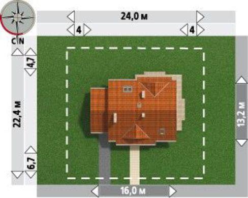 Стильный коттедж с эркером и просторной верандой