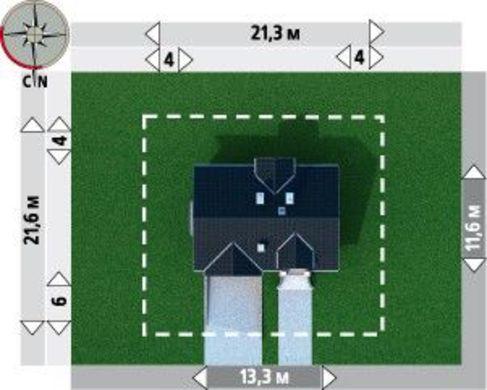 Стильный загородный дом с гаражом на цокольном этаже