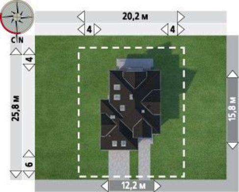 Проект большого загородного дома с шестью спальнями