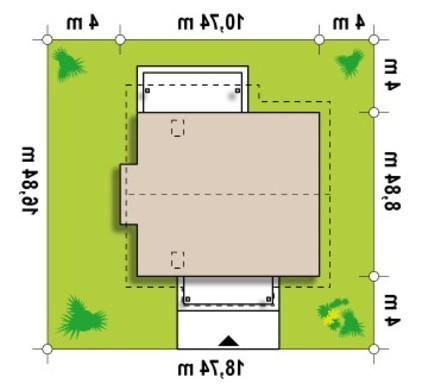 Проект коттеджа с эркером и кабинетом на первом этаже