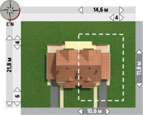 Архитектурный проект классического таунхауса с двумя этажами