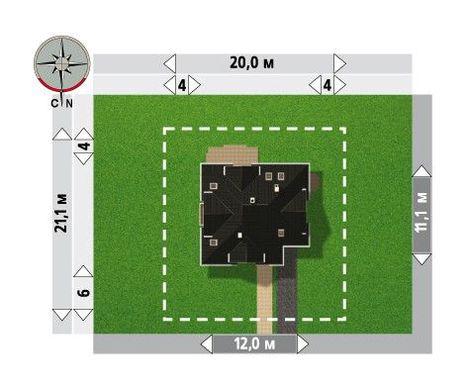 Архитектурный проект стильного дома с площадью 190 m²