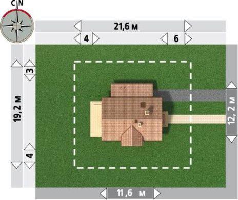 Классический проект дома 12 на 12