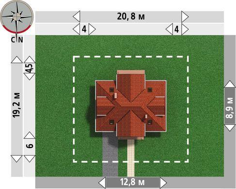 Великолепный проект коттеджа с мансардой 12 на 12 м