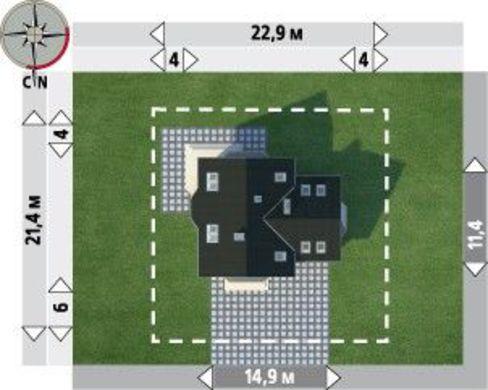Коттедж с мансардой 11 на 9 площадью более 200 m²