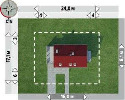 Великолепный проект коттеджа с просторной террасой над гаражом