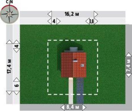 Мансардный коттедж квадратной формы 9 на 9