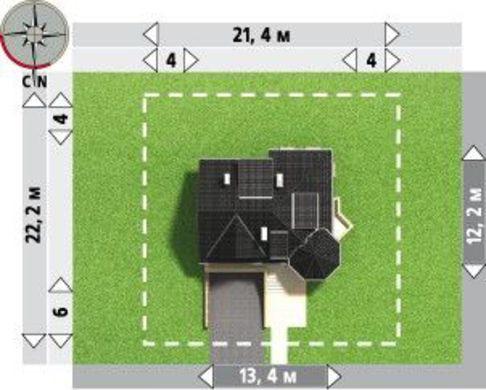 Выделяющийся проект коттеджа с гаражом на два авто в цокольном этаже