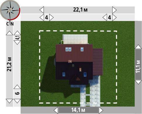 Проект двухэтажного коттеджа площадью 100м2