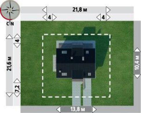 Проект видного загородного коттеджа с гаражом для одного автомобиля