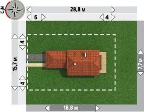 Красивый особняк с тремя спальнями для узкого участка