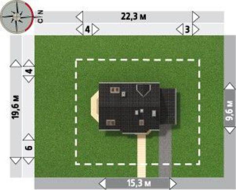 Интересный проект двухэтажного стильного особняка с гаражом