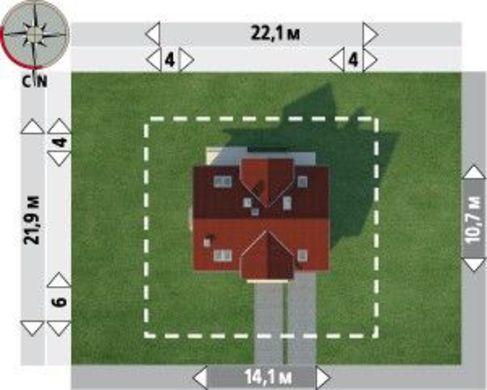 Проект красивого дома 11 на 14