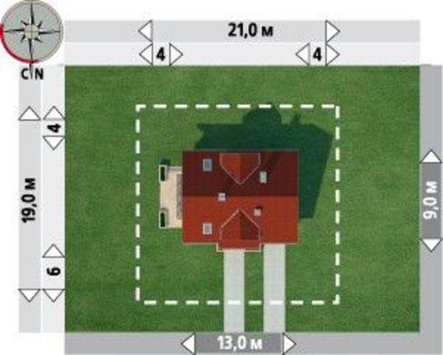 Проект для строительства мансардного коттеджа с пристроенным гаражом