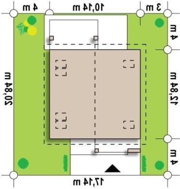 Проект классического дома средних размеров с двухскатной крышей