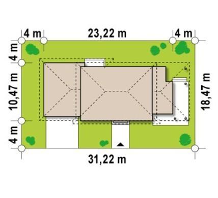 Проект большой виллы с боковой террасой