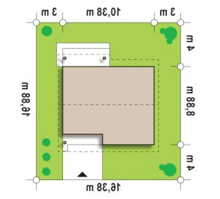 Проект небольшого одноэтажного дома