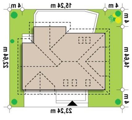 Проект просторного коттеджа с гаражом для двух авто