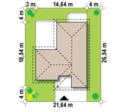 Проект одноэтажного коттеджа с большой террасой