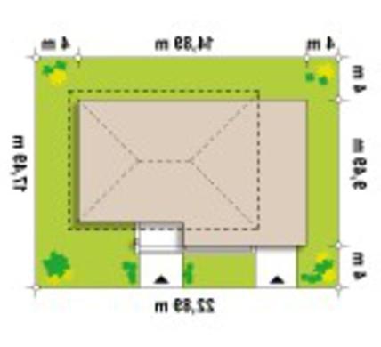 Проект современного двухэтажного коттеджа простой конструкции