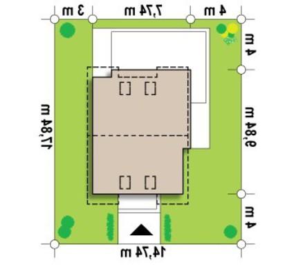 Проект экономичного коттеджа для узкого участка