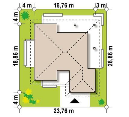 Одноэтажный дом 180 m²