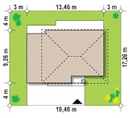 Небольшой компактный двухэтажный коттедж