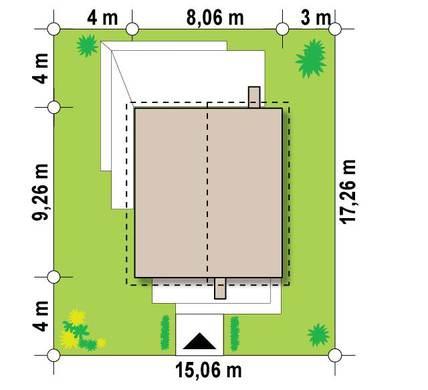 Компактный двухэтажный коттедж 8 на 11