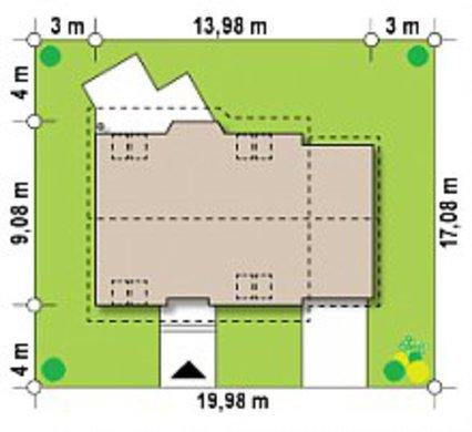 Двухэтажный загородный дом 9 на 14