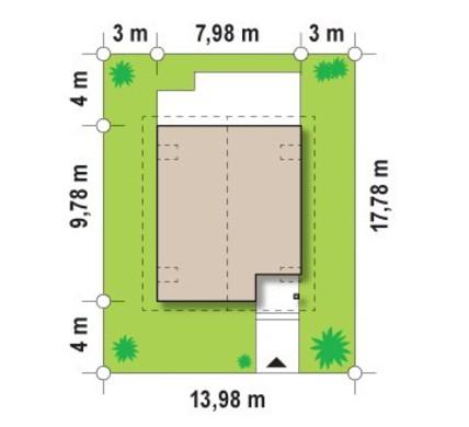 Проект коттеджа для узкого участка