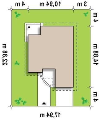 Проект коттеджа с мансардой, техническим помещением, дополнительной спальней