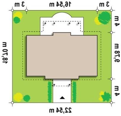 Проект симметричного одноэтажного коттеджа