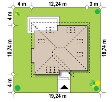 Проект коттеджа с дополнительными комнатами на первом этаже