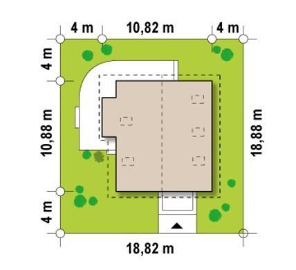 Проект частного загородного светлого дома с мансардой