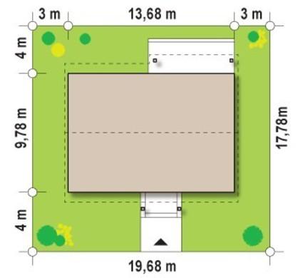 Проект одноэтажного коттеджа без внутренних несущих стен