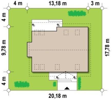 Проект коттеджа с мансардой, эркером и балконом, стильным фасадом