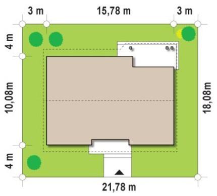 Одноэтажный дом с чердаком
