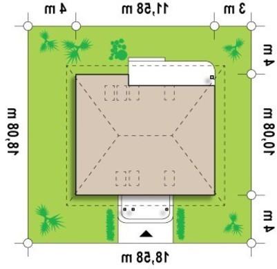 Проект традиционного небольшого уютного загородного коттеджа