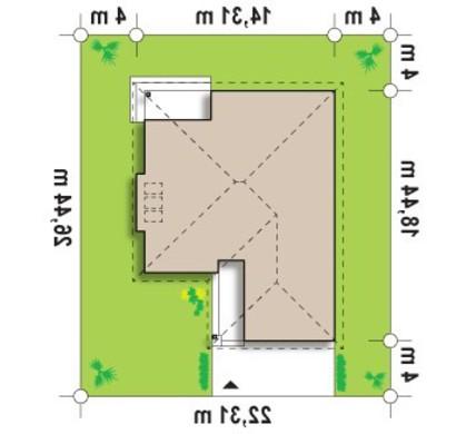 Проект одноэтажного дома с гаражом и кирпичным фасадом