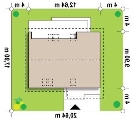 Проект коттеджа с мансардой и гостевыми комнатами на первом этаже