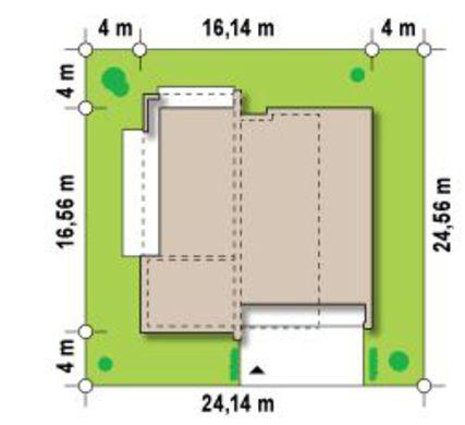 План-схема современного одноэтажного дома с плоской крышей