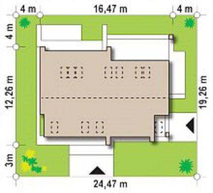 Планировка двухэтажного дома на 228 кв. м в стиле фьюжн с пятью спальнями