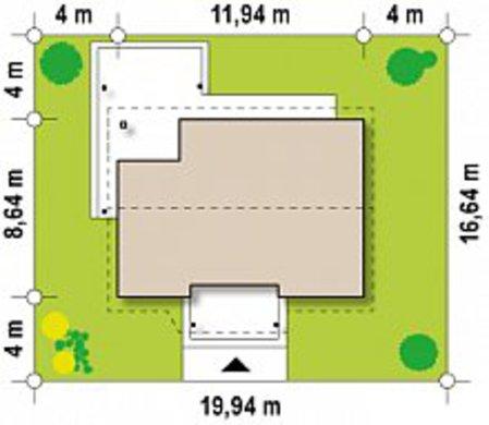Проект компактного коттеджа площадью 75 кв. м для молодой семьи