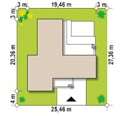 Планировка одноэтажного дома на 180 кв. м, декорированного фасадными панелями