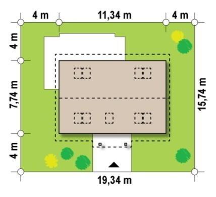 Проект милого дома площадью 149 кв. м с нежным экстерьером